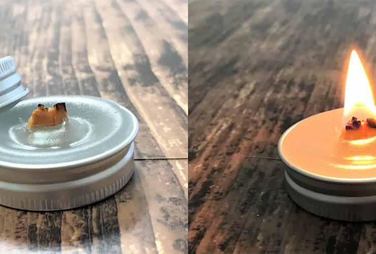木製芯アロマキャンドル
